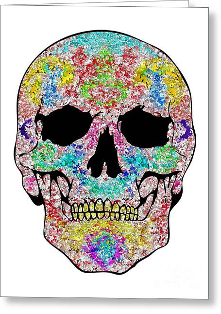 Scull Greeting Cards Greeting Cards - Chips Skull Greeting Card by Mauro Celotti