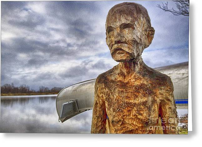 Chiseled Features And A Sun Dried Stare Greeting Card by James Neiss
