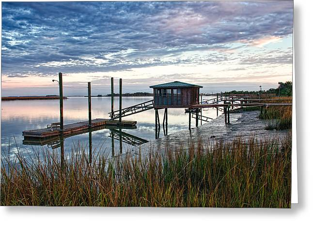 Scott Hansen Greeting Cards - Chisolm Island Docks Greeting Card by Scott Hansen