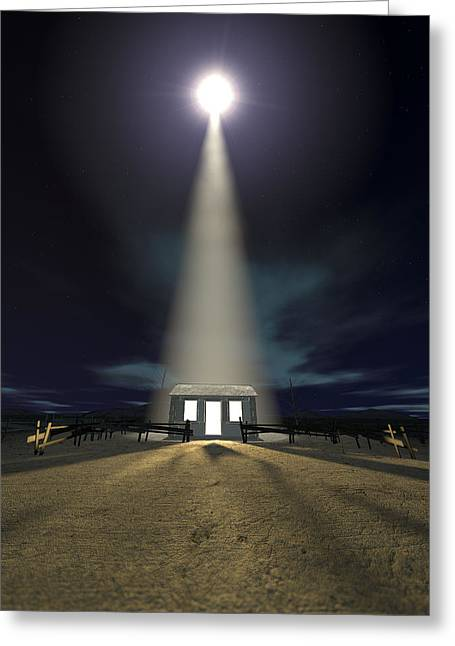 Recently Sold -  - Star Of Bethlehem Greeting Cards - Chistmas Stable In Bethlehem Greeting Card by Allan Swart