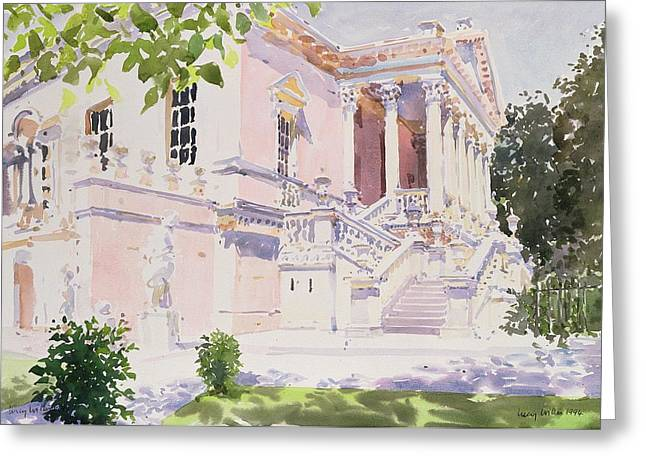 Neo Greeting Cards - Chiswick House, 1994 Wc On Paper Greeting Card by Lucy Willis