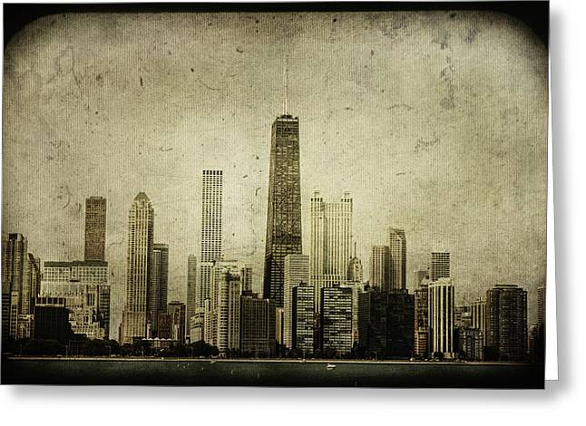 70s Greeting Cards - Chitown Greeting Card by Andrew Paranavitana