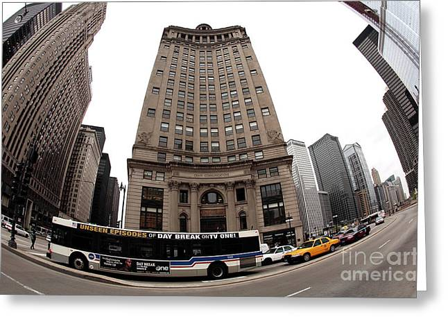 School Bus Print Greeting Cards - ChiTown Driving Greeting Card by John Rizzuto