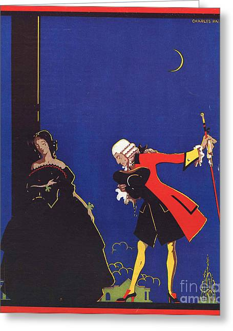 With Love Drawings Greeting Cards - Chivalry 1939 1930s Uk  Chivalrous Good Greeting Card by The Advertising Archives