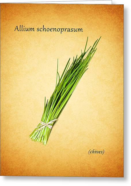 Chives Greeting Card by Mark Rogan