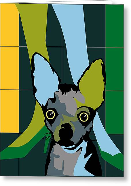 Dressing Room Digital Art Greeting Cards - Chiwawa dog Greeting Card by Roby Marelly