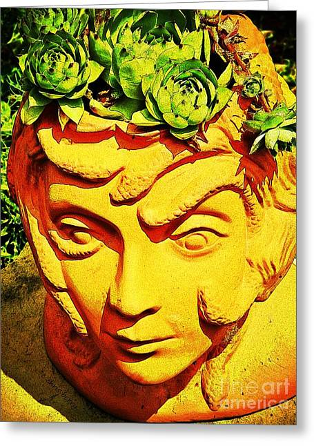 Medusa Greeting Cards - Chix for Brains  Greeting Card by Chris Berry