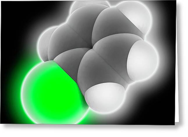 Chlorobenzene Molecule Greeting Card by Laguna Design