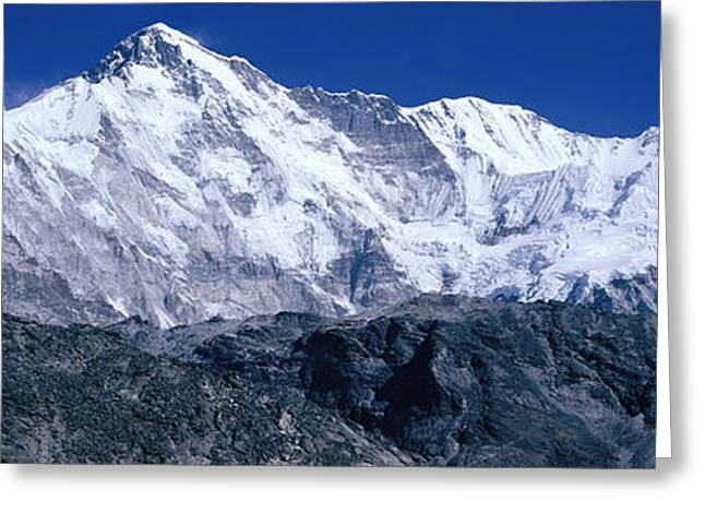 Strength Photographs Greeting Cards - Cho Oyu From Goyko Valley Khumbu Region Greeting Card by Panoramic Images