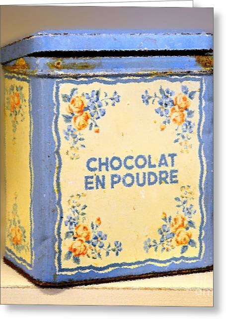 Cocoa Powder Greeting Cards - Chocolat En Poudre Greeting Card by Catherine Sherman