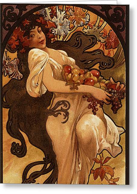 Chocolat Masson, 1897  Greeting Card by Alphonse Marie Mucha