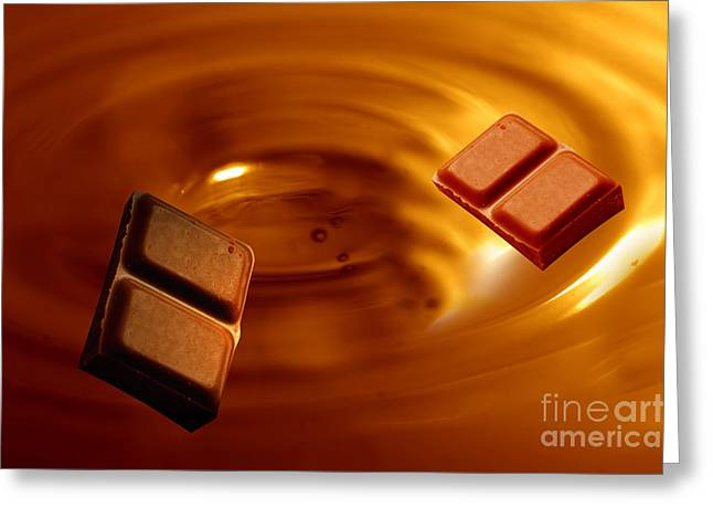 Tablets Greeting Cards - Chocolate background Greeting Card by Michal Bednarek