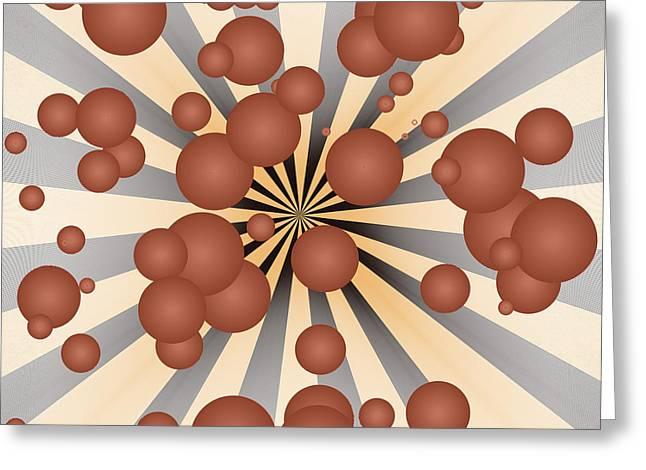 Geometric Digital Art Greeting Cards - Chocolate balls Greeting Card by Gaspar Avila