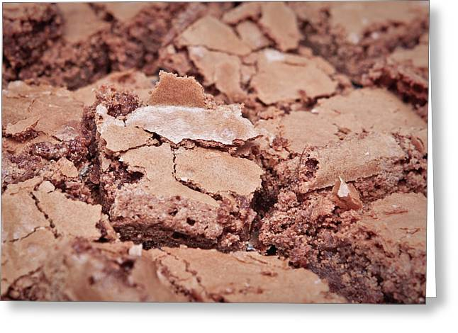 American Food Greeting Cards - Chocolate brownies Greeting Card by Tom Gowanlock