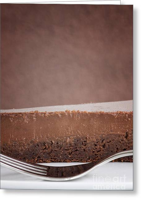 Satisfaction Greeting Cards - Chocolate cake Greeting Card by Mythja  Photography