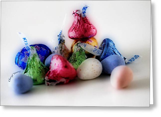 Deli Greeting Cards - Chocolate Candy Greeting Card by Cheryl Young