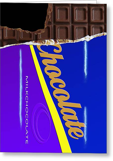 Funny Greeting Cards - Chocolate Case Greeting Card by Nicklas Gustafsson