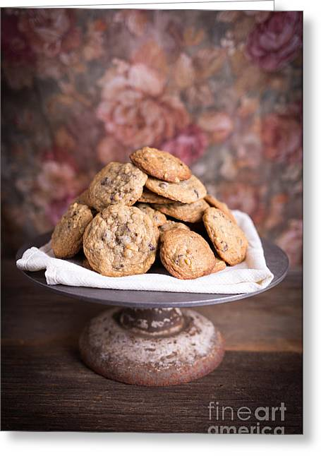 Cookie Greeting Cards - Chocolate Chip Cookies Greeting Card by Edward Fielding