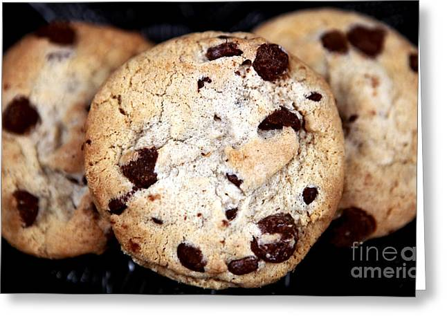 Chocolate Photos Greeting Cards - Chocolate Chip Cookies Greeting Card by John Rizzuto