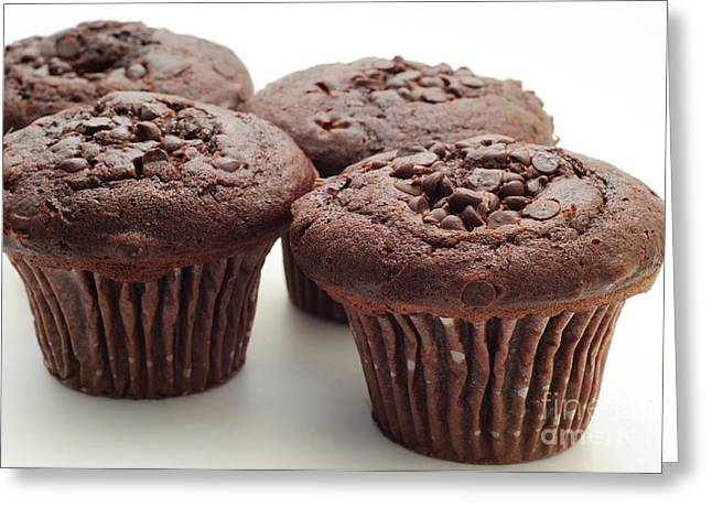 Chocolate Chocolate Chip Muffins - Bakery - Breakfast Greeting Card by Andee Design