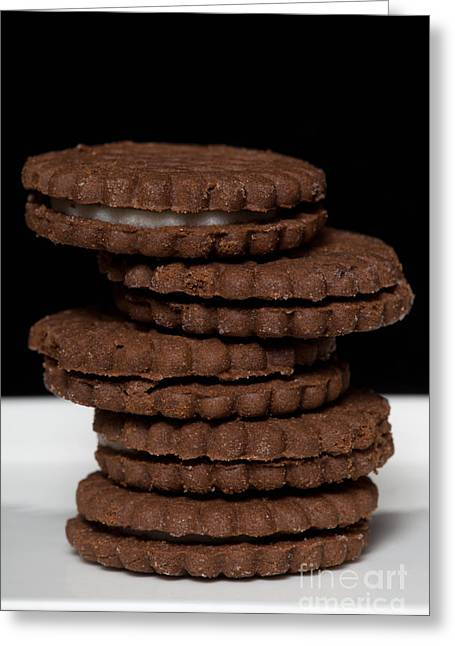 Sandwich Cookie Greeting Cards - Chocolate Cookies Greeting Card by Diane Macdonald