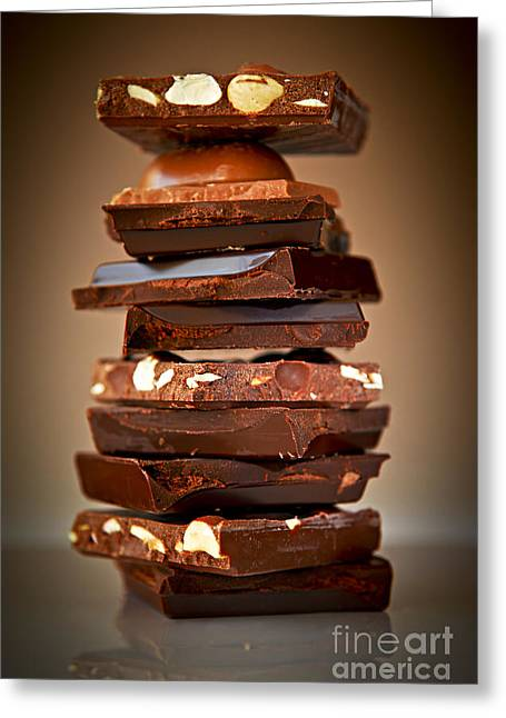 Assorted Photographs Greeting Cards - Chocolate Greeting Card by Elena Elisseeva