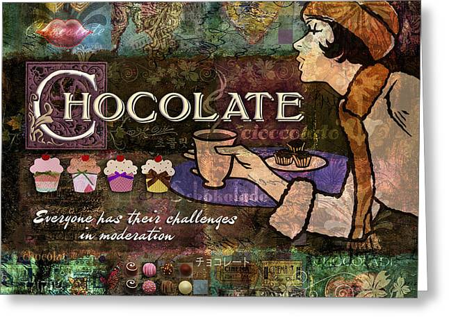 Love Laces Greeting Cards - Chocolate Greeting Card by Evie Cook