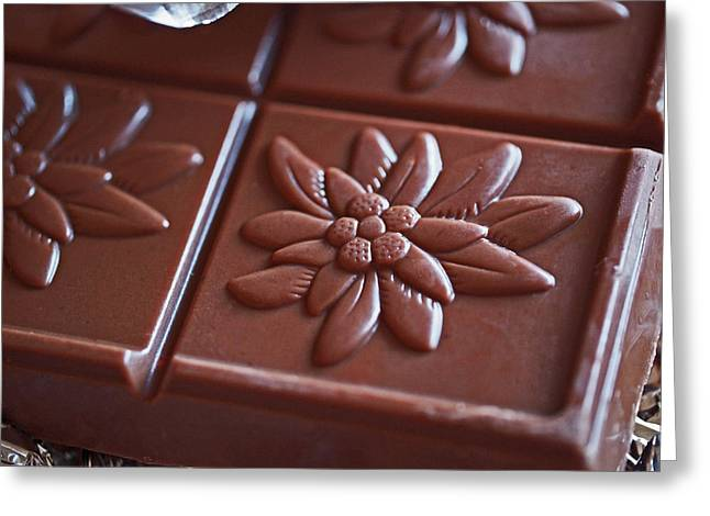 Gift Photographs Greeting Cards - Chocolate Flower  Greeting Card by Rona Black