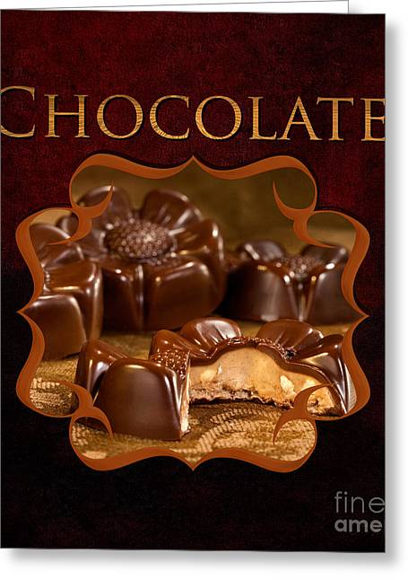 With Love Greeting Cards - Chocolate Gallery Greeting Card by Iris Richardson
