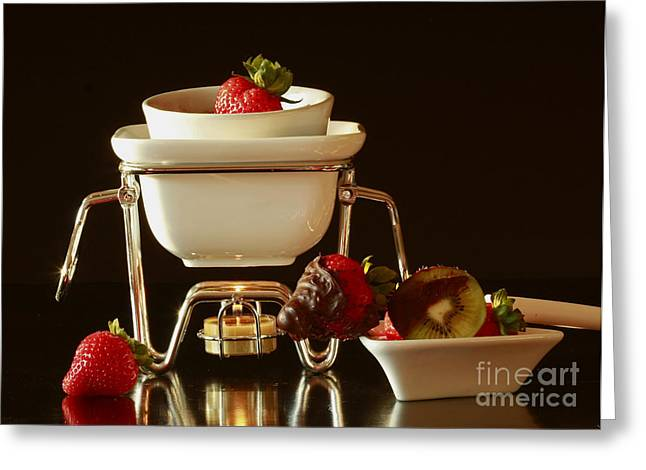 Shelley Myke Greeting Cards - Chocolate Heaven - Fondue Bliss  Greeting Card by Inspired Nature Photography By Shelley Myke