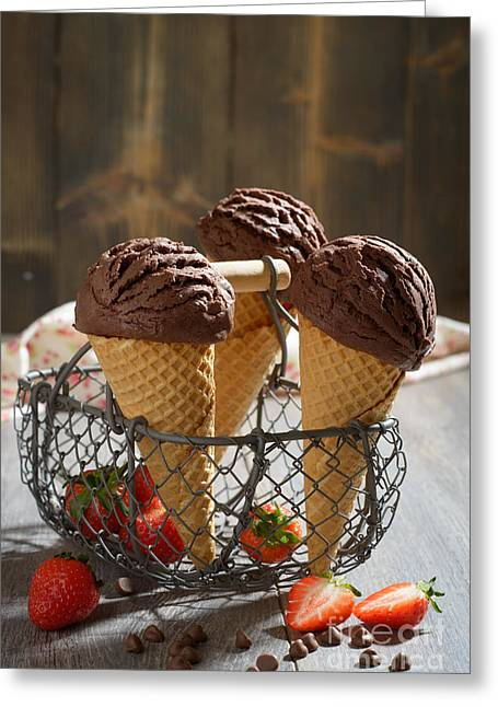 Country Kitchen Greeting Cards - Chocolate Ices Greeting Card by Amanda And Christopher Elwell