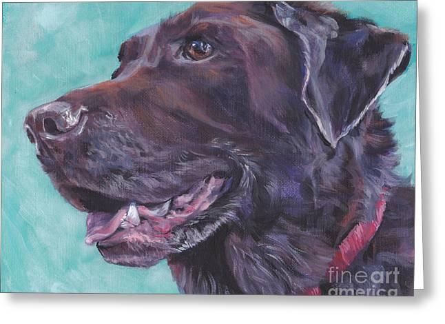 Chocolate Labrador Retriever Paintings Greeting Cards - Chocolate Lab Greeting Card by Lee Ann Shepard