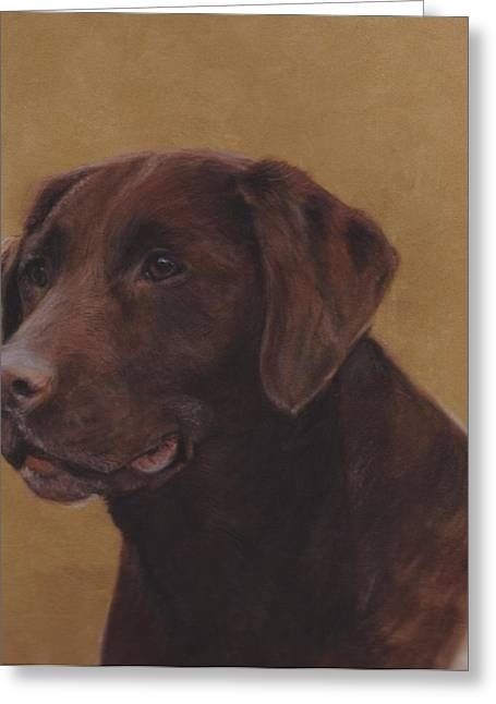 Hunting Pastels Greeting Cards - Chocolate Lab Greeting Card by Loreen Pantaleone