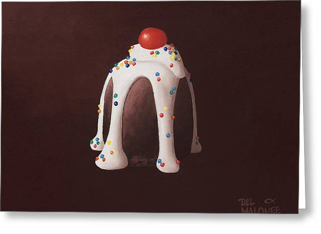 Truffles Greeting Cards - Chocolate Party Greeting Card by Del Malonee