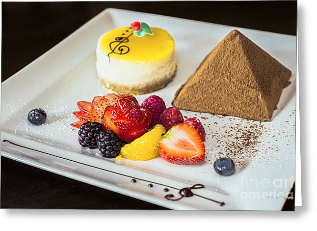 Lilikoi Greeting Cards - Chocolate Pyramid Dessert  Greeting Card by Eric Evans