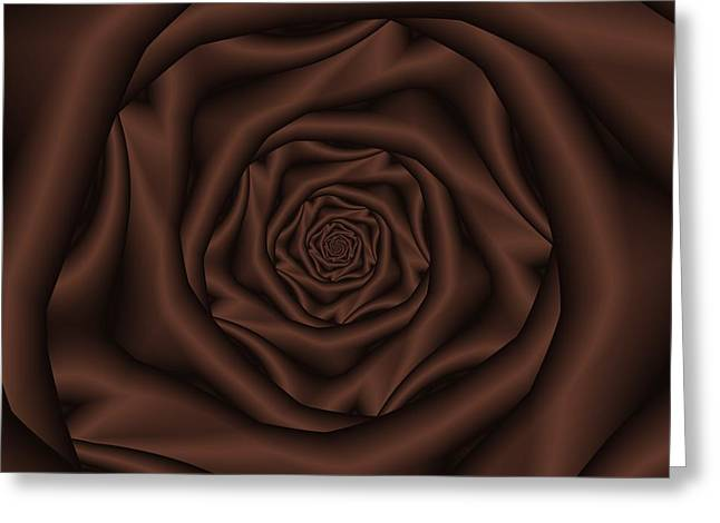 Chocolate Rose Spiral Greeting Card by Colin  Forrest