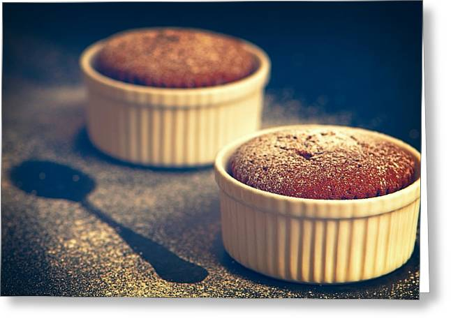 Imprint Greeting Cards - Chocolate Souffles Greeting Card by Amanda And Christopher Elwell