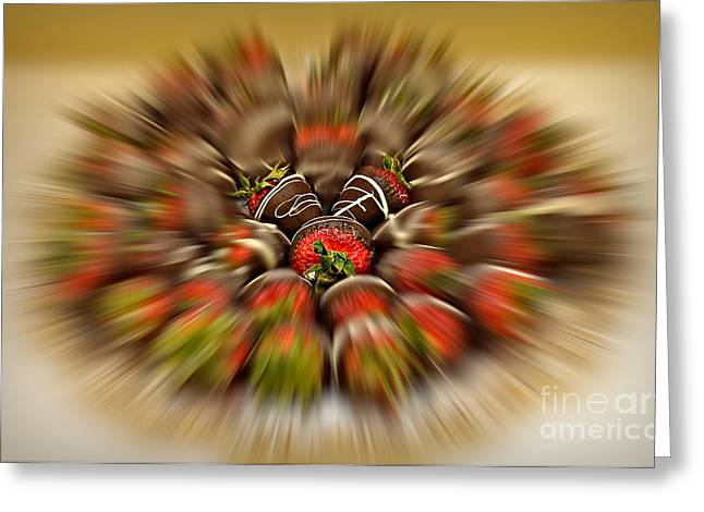 Deli Greeting Cards - Chocolate Strawberry Rush Greeting Card by Susan Candelario