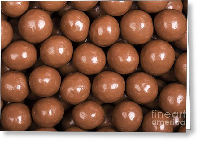 Glossy Greeting Cards - Chocolate sweet background Greeting Card by Jane Rix