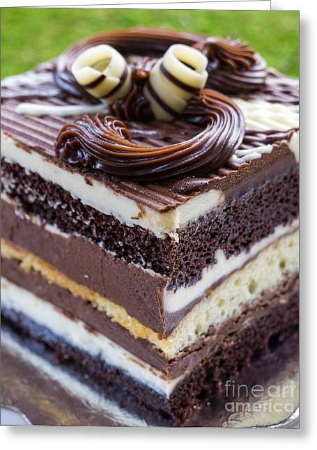 Cakes Greeting Cards - Chocolate Temptation Greeting Card by Edward Fielding
