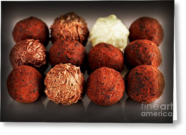 Sweetness Greeting Cards - Chocolate truffles Greeting Card by Elena Elisseeva