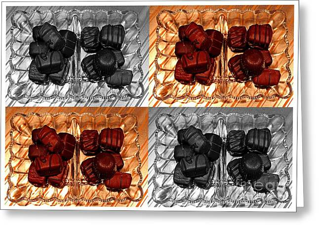 Chocolates Greeting Card by Barbara Griffin