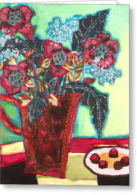 Diane Fine Greeting Cards - Chocolates Greeting Card by Diane Fine