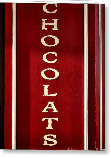 French Signs Greeting Cards - Chocolats Greeting Card by Olivier Le Queinec