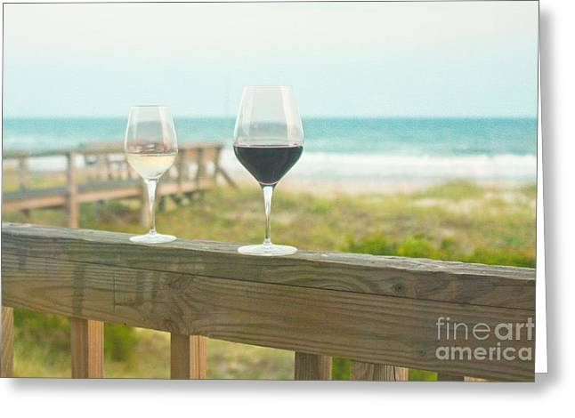Choices at the Beach Greeting Card by Kay Pickens