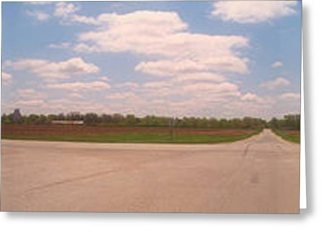 Choices At The Cross Roads Panorama Greeting Card by Thomas Woolworth