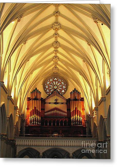 Saint Joseph Greeting Cards - Choir Loft at Saint Josephs Cathedral Buffalo New York Greeting Card by Rose Santuci-Sofranko
