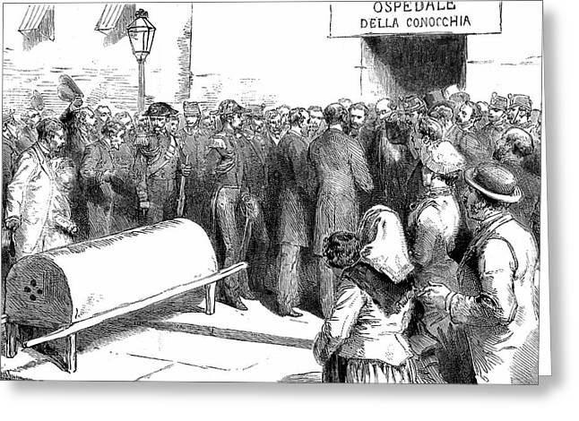 Cholera Epidemic In Naples Greeting Card by Universal History Archive/uig
