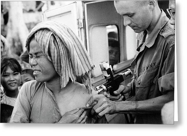 Cholera Vaccination In Vietnam Greeting Card by Us National Archives