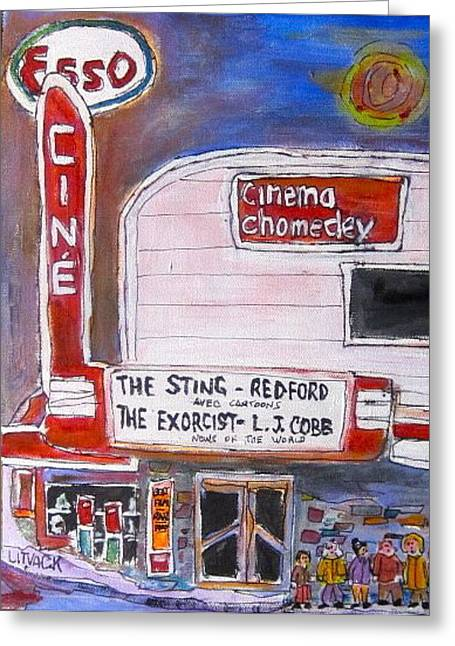 Michael Litvack Greeting Cards - Chomedey Cinema Greeting Card by Michael Litvack